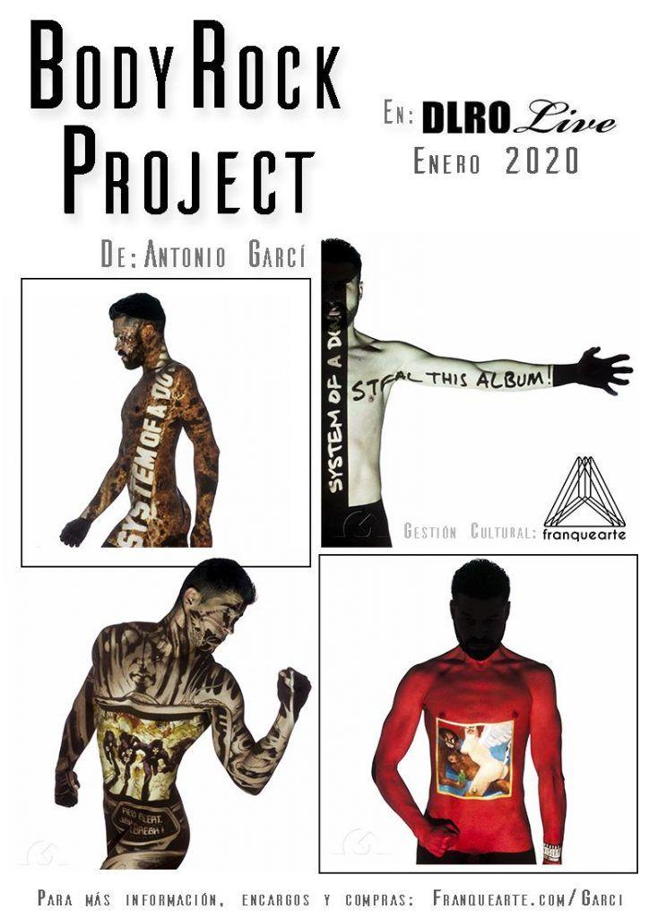 Exposición BodyRockProject 2020 en Sala Delirio